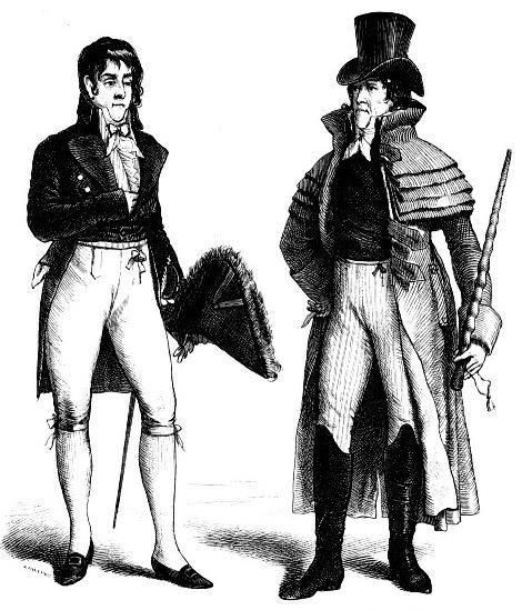 Мужской костюм франция конца 18 начала 19 века