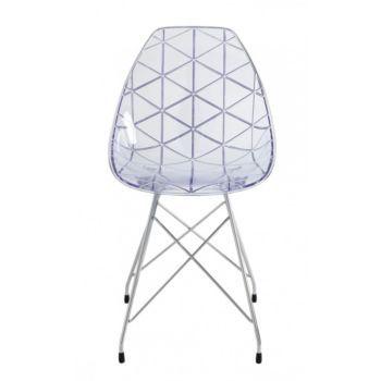 chaise coque transparente