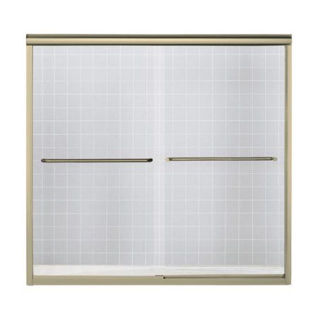 Sterling 5405-59DR-G03 Finesse 54.625 inch-59.625 inchW x 58 inchH Frameless Sliding Bathtub Door, Available in Various Colors, Silver