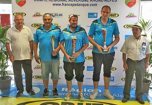 """""""Ligue territoire Rhône-Alpes mai 2017 à Chaponnay, Triplettes jeu Provençal"""""""