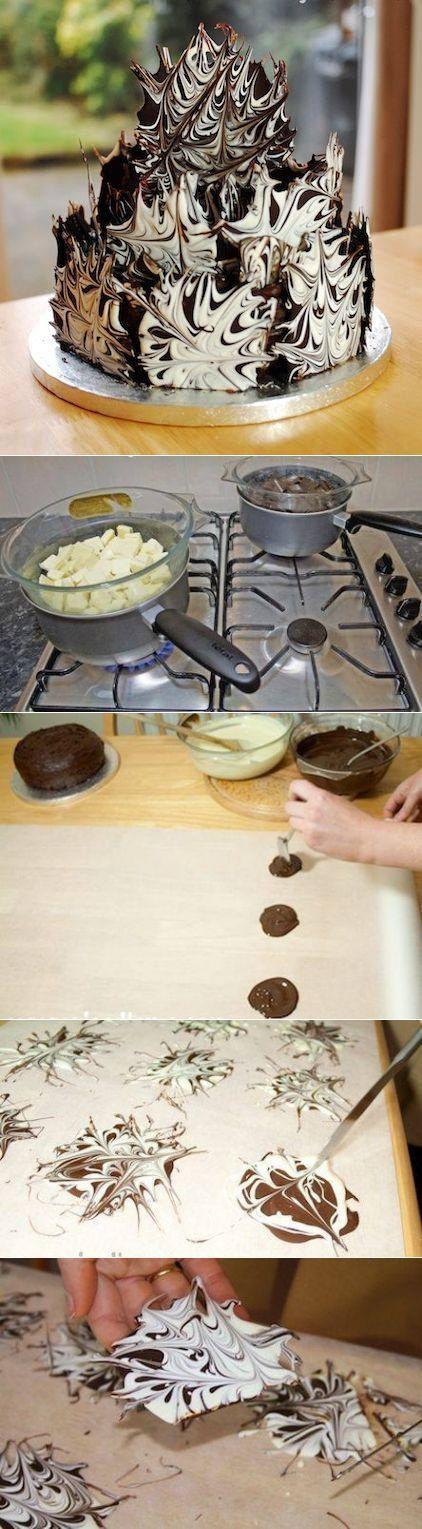 Как легко превратить простой торт в праздничный? Делаем украшение из шоколада — Делимся советами
