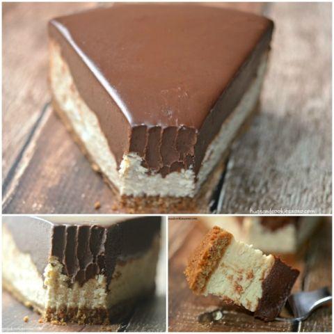 Chocolate Peanut Butter Cheesecake | Hugs and Cookies XOXO
