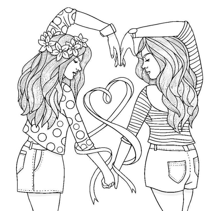 | Cute coloring pages, Bff drawings, Tumblr coloring pages