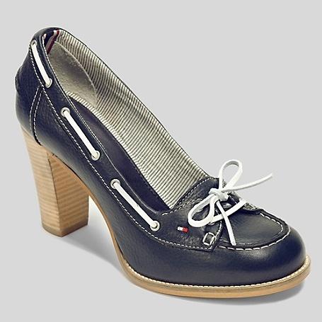 Tommy Hilfiger - Heeled Boat Shoe, Navy