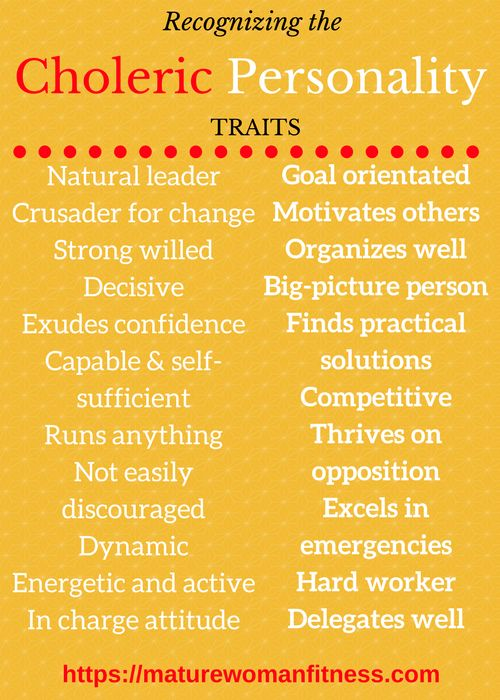 What is Choleric personality and how to recognize Choleric traits.
