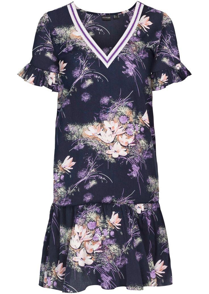 Jetzt anschauen: Nadcházející sezónu se bez těchto šatů s květovým vzorem neobejdete. Volán na lemu a žebrovaný detail u výstřihu dělají tyto šaty značky BODYFLIRT magnetem jak ve dne, tak v noci. Délka ve vel. 38 cca 90 cm.