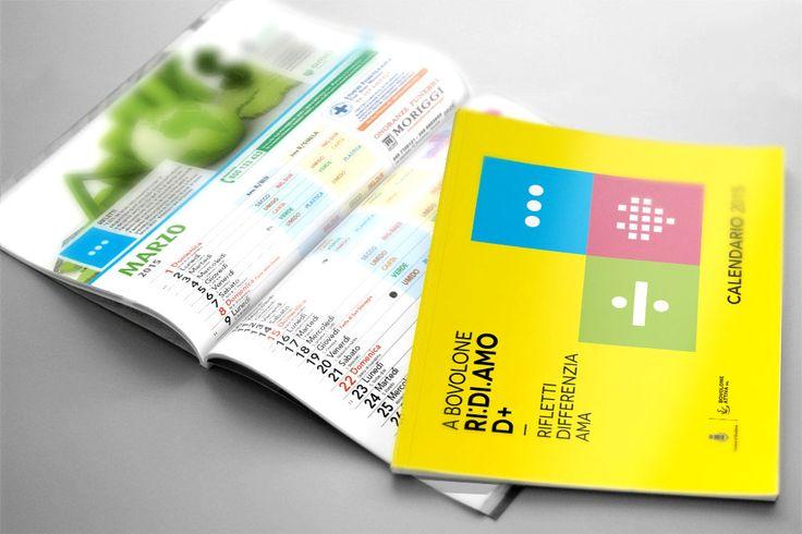 Calendario da muro Ideazione grafica e stampa del calendario da muro per la raccolta differenziata con lo studio dello schema dei mesi per una facile lettura del programma di ritiro dei rifiuti.