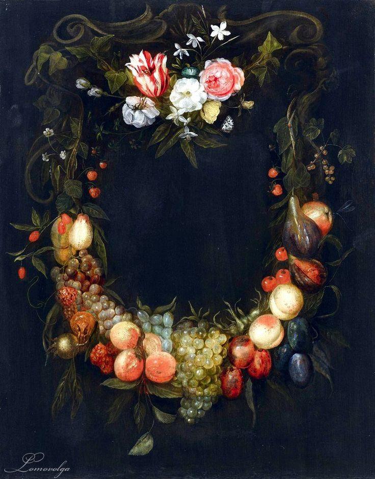 Frans Ykens (1601-1693) — Fruit and Flower Garlands