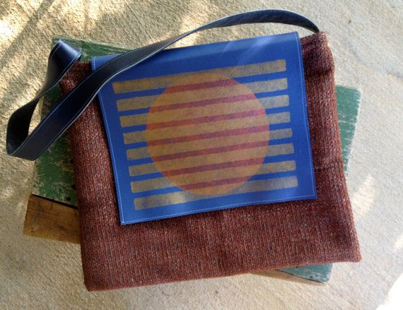 Fabric & Vinyl Shoulder Bag by EclecticoHandmade on Etsy, $40.00
