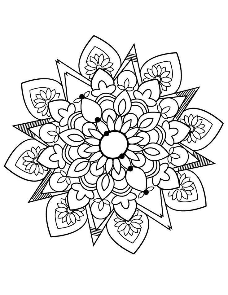 Mandala Images Facile Coloriage Gratuit Imprimer Boyama Kitaplari Mandala Tropikal