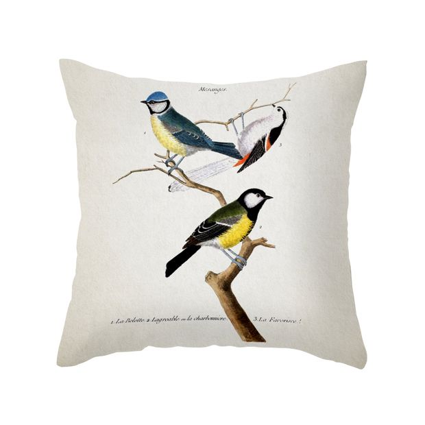 Perched Songbirds Pillow Cover