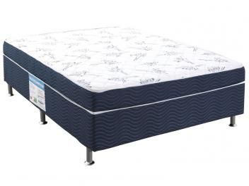 Cama Box Casal Conjugado 138x188cm - Ortobom Physical Blue