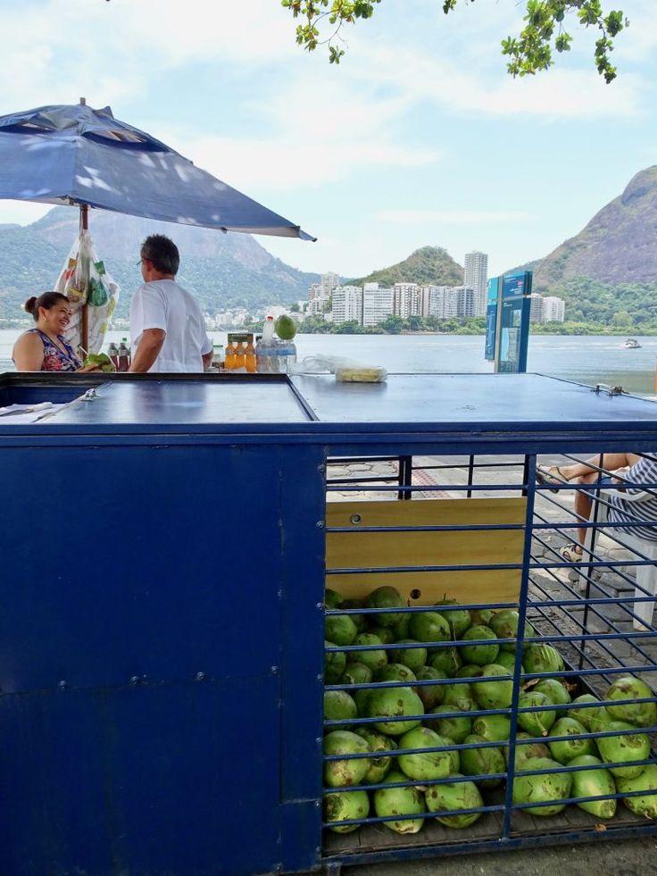 Fresh coconuts in Rio