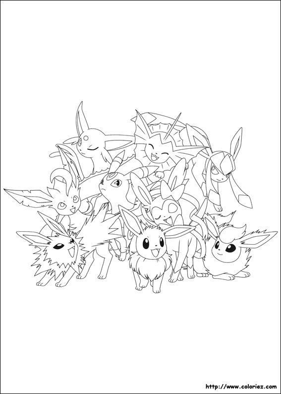 Coloriage Pokemon Famille Evoli Coloriage Pokemon Coloriage Coloriage Pokemon A Imprimer