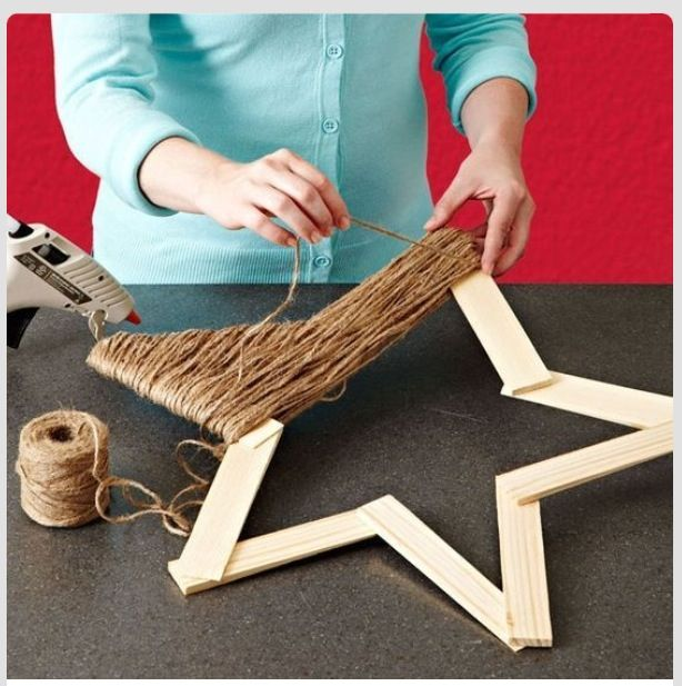 Home Made Modern Craft Of The Week 2 Rustic Christmas Stars: Xmas Crafts, Crafts, Rustic