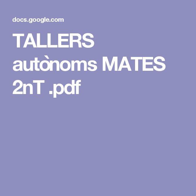 TALLERS autònoms MATES 2nT .pdf