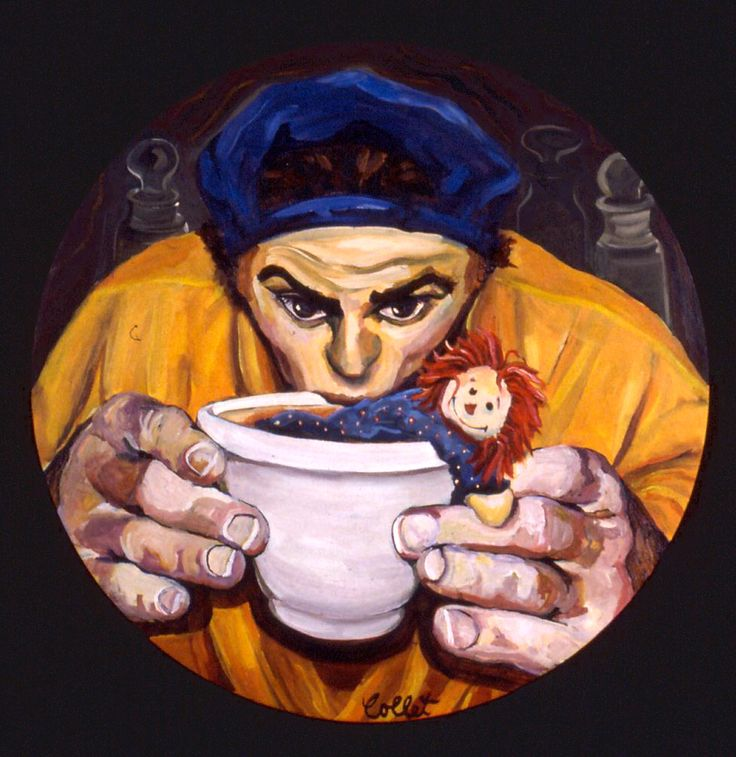 "Seasoning/Assaisonnement - Acrylic on canvas - 32"" round"