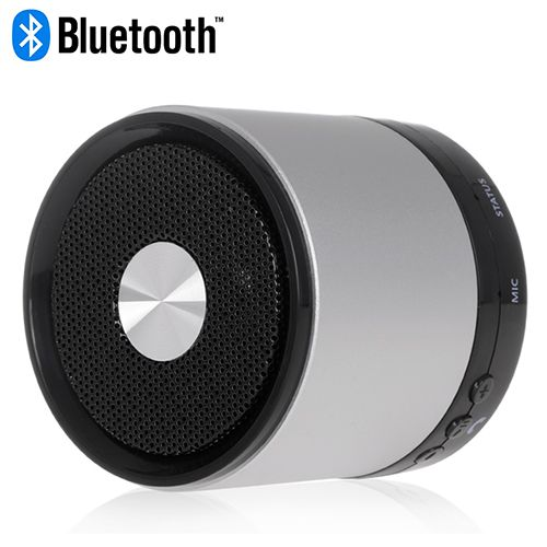Silver Bluetooth LED Indicator Speaker for Smartphones #bluetooth #indicator #speakers #music #box $17.58