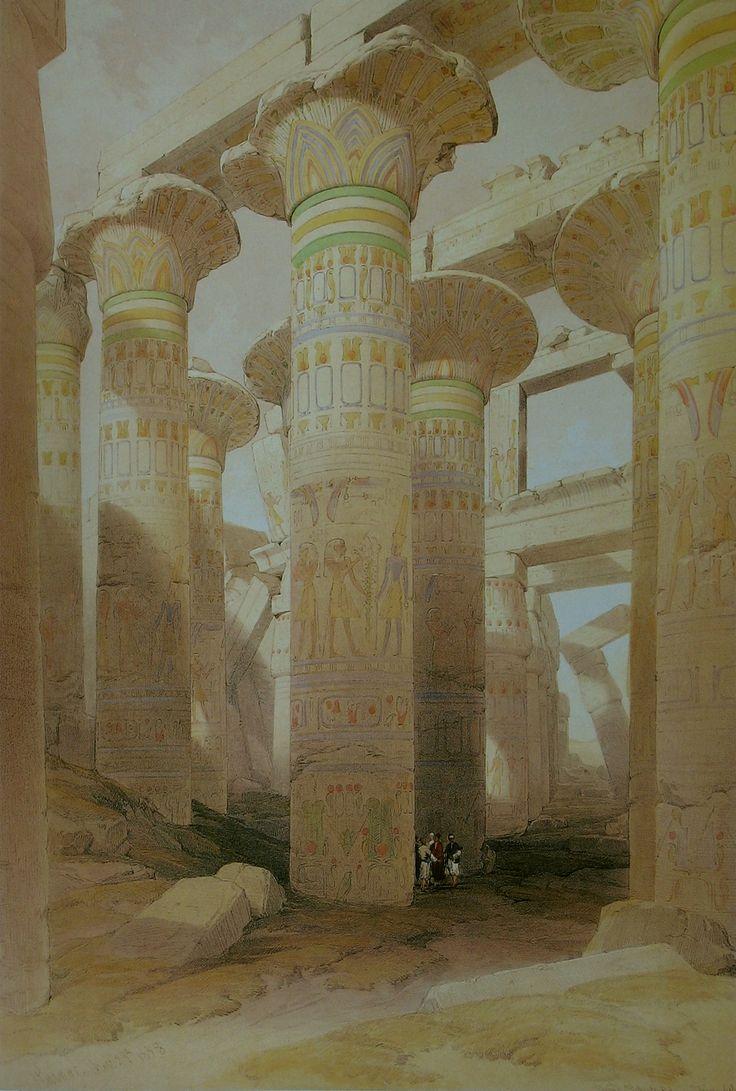 David Roberts Part Of The Hall Of Columns At Karnak.jpg