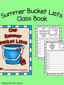 Summer Bucket Lists Class Book