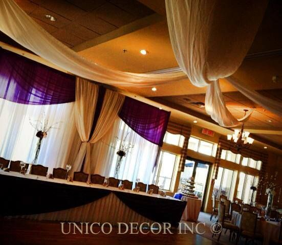 Purple decor for wedding | Wedding Decor Moncton | Unico Decor