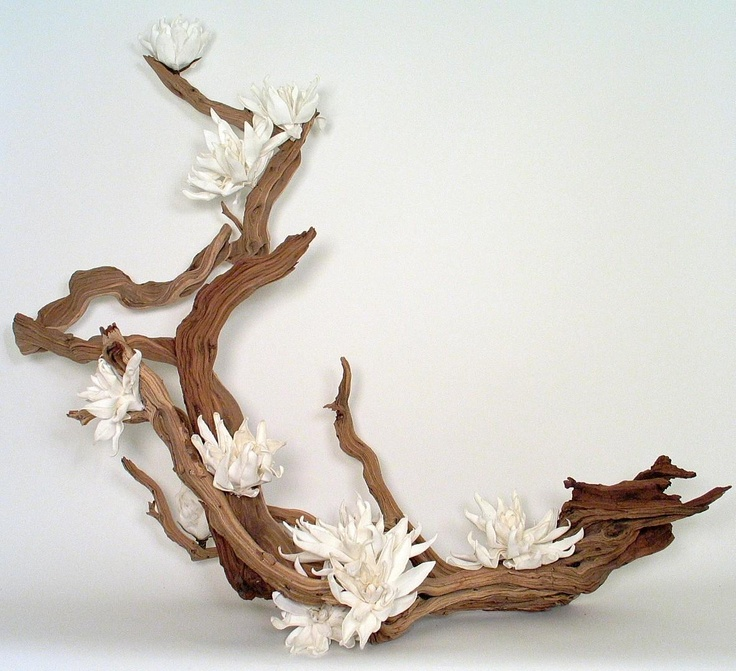 Flower Arrangement Using Driftwood: 218 Best Images About Driftwood And Flowers On Pinterest