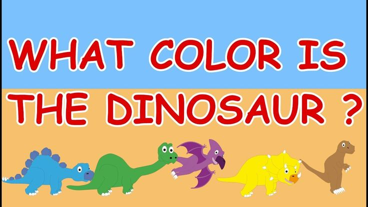 🎨DINOSAURS Teaching Color - Children Learn Colors - Learning colors for Babies, Toddlers and Kids
