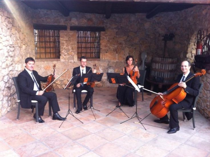 Consonus String Quartet At A Wedding Reception Near Rome Italy
