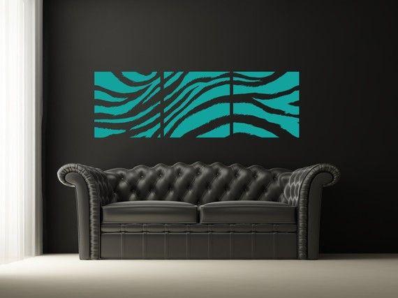 Wall Decal Animal Zebra Print Collage Jungle Stripes Safari African