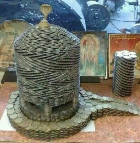 Shivling of Coins.