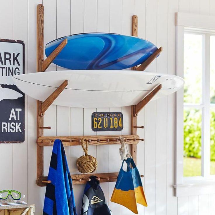 idée déco pour chambre d'ado : meuble pour surf par PB Teen