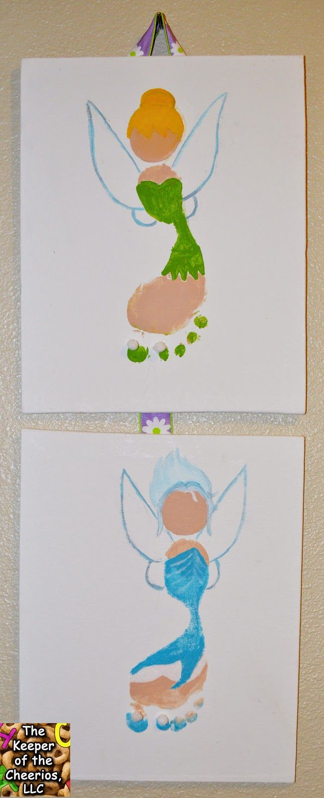 The Keeper of the Cheerios: Tinker Bell and Periwinkle Secret of the Wings Footprint Craft