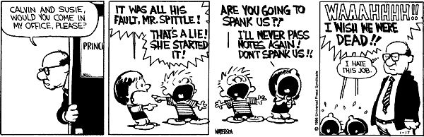 calvin and hobbes - calvin and susie go to the principal's ...