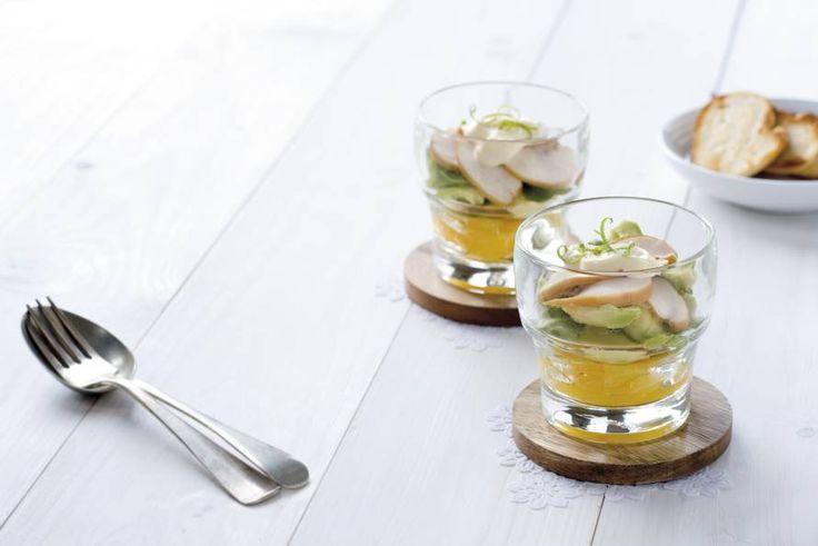 Kipcocktail met sinaasappel en avocado - Recept - Allerhande