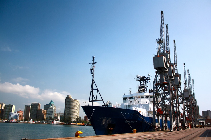 R/V Revelle in Durban Harbor
