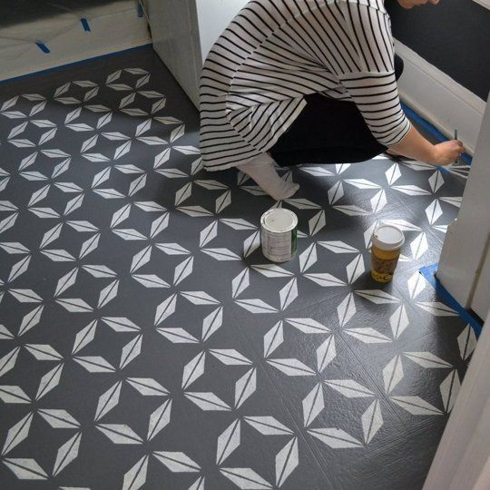 1000 ideas about painting linoleum on pinterest for Painting over vinyl floor