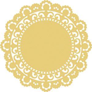 Doily 1 - Yellow - a digital scrapbooking ephemera embellishment by Marisa Lerin
