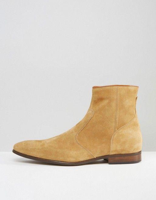 Shop Zign Suede Zip Boots at ASOS.