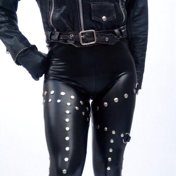 Leggings, Studded Leggings, Heavy Metal Clothes, Rock Clothing, leather  leggings, Rock Leggings, Dark Style, Heavy Metal Fashion, Rocker | Metal  clothing, Heavy metal clothes, Studded leggings