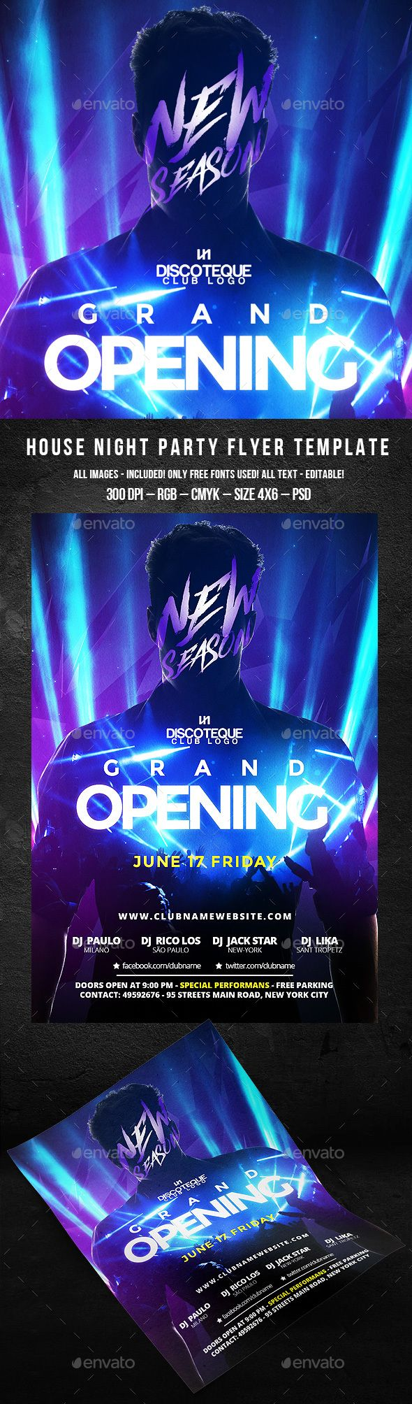 Grand Opening Flyer  #nightclub • Click here to download ! http://graphicriver.net/item/grand-opening-flyer/16197109?ref=pxcr