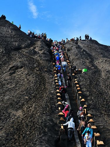245 Step of stair leading to Mt Bromo
