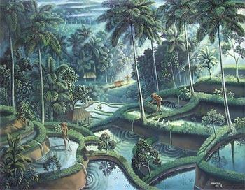 Agung Rai Gallery - Balinese Painting - Landscape of Bali