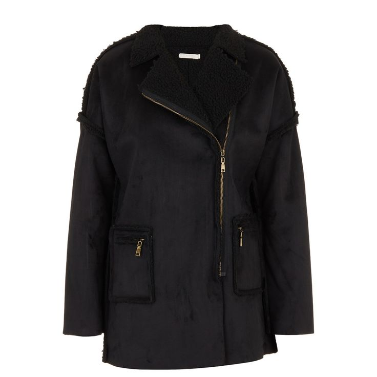 Sherpa Lined Coat Black
