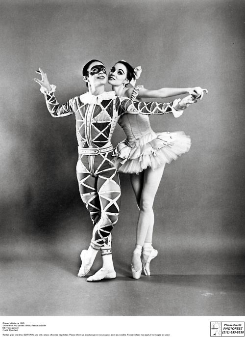 New York City Ballet's legendary Edward Villella and Patricia McBride in 'Harlequinade'.