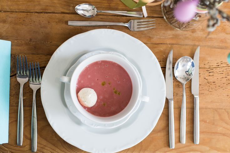 Delicious strawberry soup