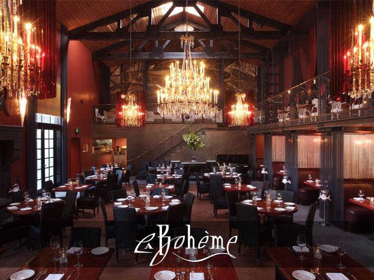 Cafe La Boheme :: WeHO :: THE ICONIC LA BOHEME IS ONE OF L.A.'S MOST SEDUCTIVE RESTAURANTS.  Renown for its stunning architecture and dramatic dining room, the interior includes a roaring fireplace, massive statues, chandeliers, semi-private booths and a romantic patio.