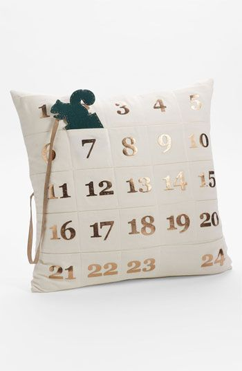 Count down the days to Christmas w/ this advent pillow nordstrom