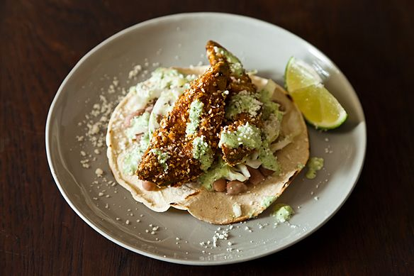 Fried Avocado Tacos with Sesame and Lime by arielleclementine, food52 #Tacos #Avocados