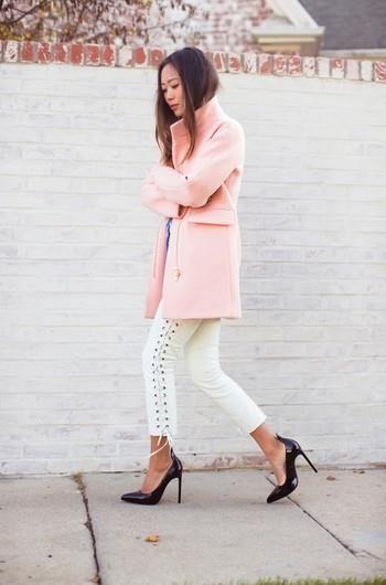 Розовое пальто от h