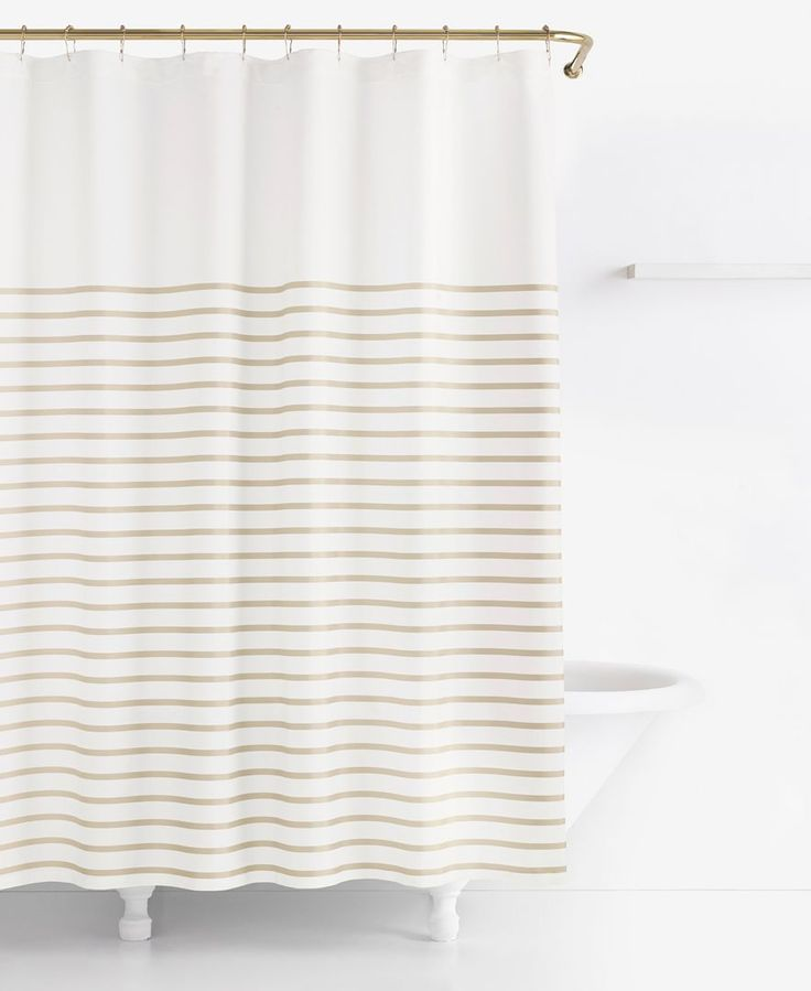 """The bold stripes of the Harbour shower curtain from kate spade new york bring a splash of modern style to your bathroom decor.   Polyester/cotton   Machine washable   Imported   Dimensions: 72"""" x 72"""""""